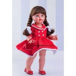 MP Vestido Rojo con Topos...