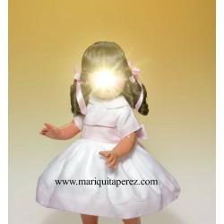 Vestido Muselina blanco y rosa