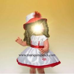 Vestido Shantu Blanco/Rojo...