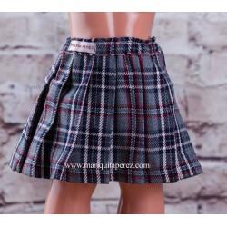 Falda Escocesa Gris