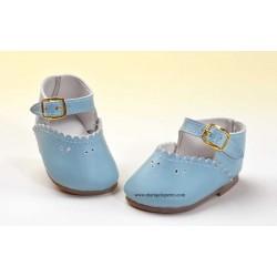 Zapato Merceditas Piel Celeste