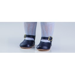 Zapato Merceditas Piel Marino