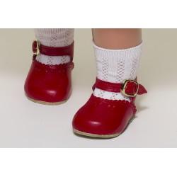 Zapato Merceditas Piel Rojo MP