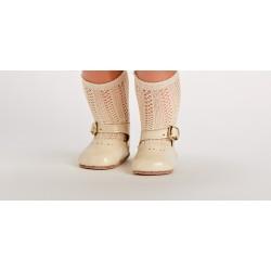 Zapato Merceditas Charol Beig
