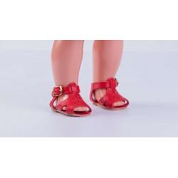 Sandalia Piel Roja