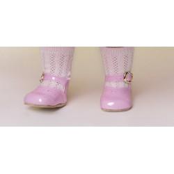 Zapato Merceditas Charol Rosa