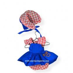 Mini Vestido Azul con Capota