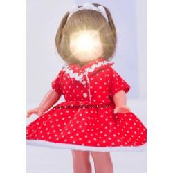 Mini Vestido Rojo Topos...