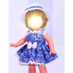 Mini Vestido Azul y Blanco...